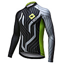 cheap Cycling Jerseys-Mysenlan Men's Long Sleeve Cycling Jersey - Green / Black Lines / Waves Bike Jersey Top, Breathable Quick Dry Polyester / Expert / Advanced Sewing Techniques / Italy Imported Ink / Breathable Armpits