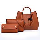 ieftine Seturi Genți-Pentru femei Genți PU Seturi de sac Set de pungi 3 buc Ținte / Franjuri Roșu-aprins / Roz Îmbujorat / Maro