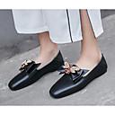 povoljno Ženske cipele bez vezica-Žene Cipele Mekana koža Proljeće Udobne cipele Natikače i mokasinke Ravna potpetica Crn / Badem