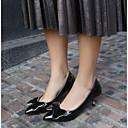 ieftine Mocasini de Damă-Pentru femei Pantofi PU Vară Confortabili Tocuri Toc Stilat Vârf ascuțit Negru / Argintiu / Rosu