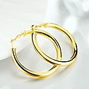 cheap Earrings-Women's Hoop Earrings Hollow Creative Ladies Simple Classic Fashion Gold Plated Earrings Jewelry Gold For Daily Street 1 Pair