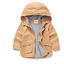 cheap Wedding Wraps-Kids / Toddler Boys' Solid Colored Long Sleeve Trench Coat