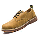 cheap Men's Oxfords-Men's Combat Boots Nappa Leather / Cowhide Summer Oxfords Yellow / Brown / Khaki