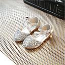 ราคาถูก รองเท้าเด็กผู้หญิง-เด็กผู้หญิง รองเท้า PU ฤดูร้อนฤดูใบไม้ผลิ รองเท้าสาวดอกไม้ รองเท้าส้นเตี้ย ปมผ้า สำหรับ เด็ก สีทอง / เงิน / สีชมพู