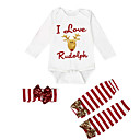 ieftine Set Îmbrăcăminte Bebeluși-Bebelus Fete Activ / Șic Stradă Concediu Dungi / Imprimeu Imprimeu Manșon Lung Set Îmbrăcăminte / Copil