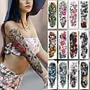 abordables Tatuajes Temporales-2 pcs Los tatuajes temporales Adhesivo suave / Seguridad brazo Papel de tarjeta / Tatuajes temporales estilo calcomanía