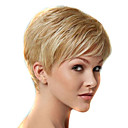 cheap Kitchen Tools-Synthetic Wig Straight Blonde Short Bob Synthetic Hair 6 inch Women / African American Wig / With Bangs Blonde Wig Women's Short Capless Blonde