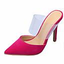 Χαμηλού Κόστους Γυναικείες Μπαλαρίνες-Γυναικεία Σαμπό & Mules Νεωτεριστικά παπούτσια Τακούνι Στιλέτο Μυτερή Μύτη Βαμβάκι / PVC Λουράκι στη Φτέρνα Ανοιξη καλοκαίρι Κόκκινο / Πράσινο / Βαθυγάλαζο / Πάρτι & Βραδινή Έξοδος