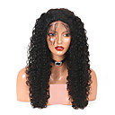 tanie Jeden plecak do włosów-Włosy naturalne remy Pełna siateczka Peruka Włosy brazylijskie Curly Peruka 180% Gęstość włosów z Baby Hair Naturalna linia włosów Bielone Węzły Damskie Długie Peruki koronkowe z naturalnych włosów