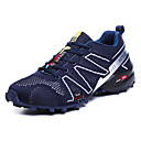 cheap Men's Athletic Shoes-Men's Mesh / Elastic Fabric Spring Comfort Athletic Shoes Hiking Shoes Color Block Dark Blue / Gray / Red