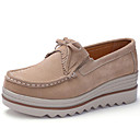 cheap Women's Boots-Women's Shoes Suede Fall & Winter Comfort Loafers & Slip-Ons Wedge Heel Red / Pink / Almond