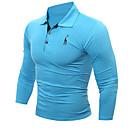 זול מגנים לטלפון & מגני מסך-אחיד צווארון חולצה ספורט חולצה - בגדי ריקוד גברים / שרוול ארוך