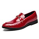 ieftine Saboți și Mocasini Bărbați-Bărbați Pantofi formali Imitație Piele Toamna iarna Mocasini & Balerini Bloc Culoare Negru / Rosu / Nuntă / Party & Seară