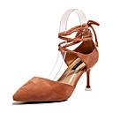 ieftine Sandale de Damă-Pentru femei PU Vară Pantofi pe Gleznă Tocuri Toc Stilat Vârf ascuțit Negru / Bej / Roz / Party & Seară / Zilnic / Party & Seară