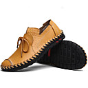 cheap Men's Oxfords-Men's Cowhide Summer Comfort Loafers & Slip-Ons Black / Yellow / Brown