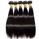 ieftine Meșe Păr Natural-6 pachete Păr Indian Drept Păr Natural Cadouri / Umane tesaturi de par / Mărturii petrecere ceai 8-28 inch Culoare naturală Umane Țesăturile de par Simplu / Valentine / Creative Umane extensii de par