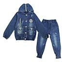 povoljno Jakne i kaputi za djevojčice-Djeca Djevojčice Osnovni Jednobojni Dugih rukava Komplet odjeće