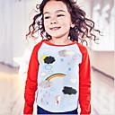 tanie Zestawy ubrań dla dziewczynek-Dzieci / Brzdąc Dla dziewczynek Podstawowy Sport Wszechświat Nadruk Długi rękaw Bawełna T-shirt