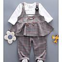 ieftine Top Bebeluși-Bebelus Fete De Bază Zilnic Plisat Manșon Lung Regular Bumbac / Poliester Set Îmbrăcăminte Trifoi 100 / Copil