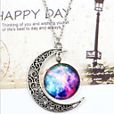 cheap Earrings-Women's Pendant Necklace - Moon, Galaxy Unique Design, European, Fashion White / Blue, Silver-Blue, Purple / Blue Necklace For Wedding, Party, Special Occasion