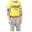 ieftine Hanorace Băieți & Tricouri-Copii Băieți Activ Dungi Manșon Lung Bumbac Set Îmbrăcăminte