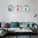 זול מדבקות קיר-נוף / מגדל אייפל קיר תפאורה חומר מיוחד ארופאי / פסטורלי וול ארט, שטיחי קיר תַפאוּרָה