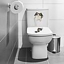 billige Moteøreringer-Toilet klistermærker - Animal Wall Stickers Dyr Stue / Soverom / Baderom