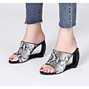 povoljno Ženske sandale-Žene Cipele Ovčja koža Ljeto Udobne cipele / Obične salonke Sandale Heterotipski peta Obala / Badem