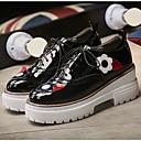 זול מגפי נשים-בגדי ריקוד נשים נעליים עור פטנט קיץ נוחות נעלי ספורט מטפסים בוהן עגולה שחור