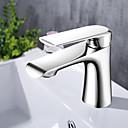 billige Baderomskraner-Baderom Sink Tappekran - Utbredt Krom Centersat Enkelt Håndtak Et Hull