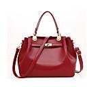 povoljno Komplet torbi-Žene Torbe PU Bag Setovi Patent-zatvarač Crn / Red / Bež