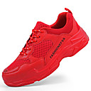 cheap Men's Sneakers-Men's Knit Fall Comfort Athletic Shoes Running Shoes / Walking Shoes White / Black / Red