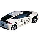 baratos Utensílios & Gadgets de Cozinha-Branco / Preto Adesivos Decorativos para Carro Desenho Porta Adesivos Desenho Animado Adesivos