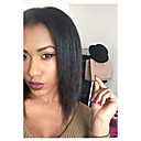 cheap Human Hair Wigs-Remy Human Hair Full Lace Wig Bob Short Bob style Brazilian Hair Yaki Straight Black Wig 130% Density with Baby Hair Natural Hairline 100% Hand Tied Black Women's 8-14 Human Hair Lace Wig Aili Young