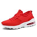 זול נעלי ספורט לגברים-בגדי ריקוד גברים סריגה אביב קיץ נוחות נעלי אתלטיקה ריצה לבן / שחור / אדום