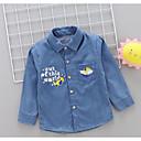 povoljno Majice za Za dječake bebe-Dijete Dječaci Aktivan Dnevno Crno-bijela Jednobojni Nabori Kratkih rukava Regularna Lan Majica Plava / Dijete koje je tek prohodalo
