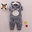 tanie Zestawy ubrań dla Chłopięce niemowląt-Dziecko Dla chłopców Aktywny / Podstawowy Codzienny / Urodziny Panda Solidne kolory Haft Długi rękaw Regularny Regularny Komplet odzieży Czerwony / Brzdąc