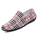ieftine Pantofi Sport de Bărbați-Bărbați Tălpi de iluminat Pânză Primăvară Mocasini & Balerini Negru / Bej