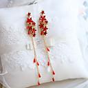 رخيصةأون مجوهرات الجسم-للمرأة كريستال كلاسيكي أقراط قطرة - أميرة أنيق أحمر من أجل عطلة مهرجان