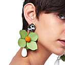 cheap Earrings-Drop Earrings - Floral / Botanicals, Flower Fashion Red / Green / Royal Blue For Party / Date / Street