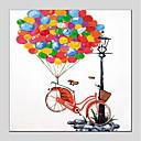 billige Syntetiske parykker uden hætte-Hang-Painted Oliemaleri Hånd malede - Tegneserie Moderne Lærred
