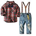 ieftine Set Îmbrăcăminte Băieți Bebeluși-Bebelus Băieți Plisat Manșon Lung Set Îmbrăcăminte