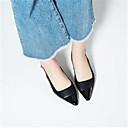 זול נעלי עקב לנשים-בגדי ריקוד נשים נעליים עור קיץ בלרינה בייסיק סנדלים עקב סטילטו בוהן מחודדת שחור / אדום