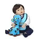 povoljno Lutkice-NPKCOLLECTION Autentične bebe Za muške bebe 24 inch Cijeli silikon tijela Vinil - Umjetna implantacija Plave oči Dječjom Dječaci / Djevojčice Igračke za kućne ljubimce Poklon
