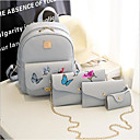 رخيصةأون ألعاب بازل ثلاثية الأبعاد-للمرأة أكياس PU مجموعات حقيبة 4 قطع محفظة مجموعة نموذج / طباعة / سحاب أسود / البيج / رمادي