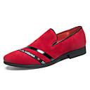 זול נעלי אוקספורד לגברים-בגדי ריקוד גברים נעליים פורמליות סוויד אביב קיץ / סתיו חורף נעליים ללא שרוכים נושם שחור / אדום