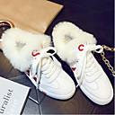 povoljno Ženske cipele bez vezica-Žene Cipele Mekana koža Zima Udobne cipele Sneakers Ravna potpetica Crn / Crvena