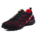 cheap Men's Athletic Shoes-Men's Knit Fall / Spring & Summer Comfort Athletic Shoes Running Shoes / Hiking Shoes Color Block Gray / Red / Blue