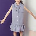 ieftine Costum Baie Fete-Copii Fete Activ / Dulce Carouri Fără manșon Rochie Albastru piscină 140