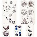 billige Mode Armbånd-5 pcs Midlertidige Tatoveringer Totem Serier / Tegneserie Serie Glat klistermærke / Øko Venlig Kropskunst hænder / arm / håndled / Decal-stil midlertidige tatoveringer